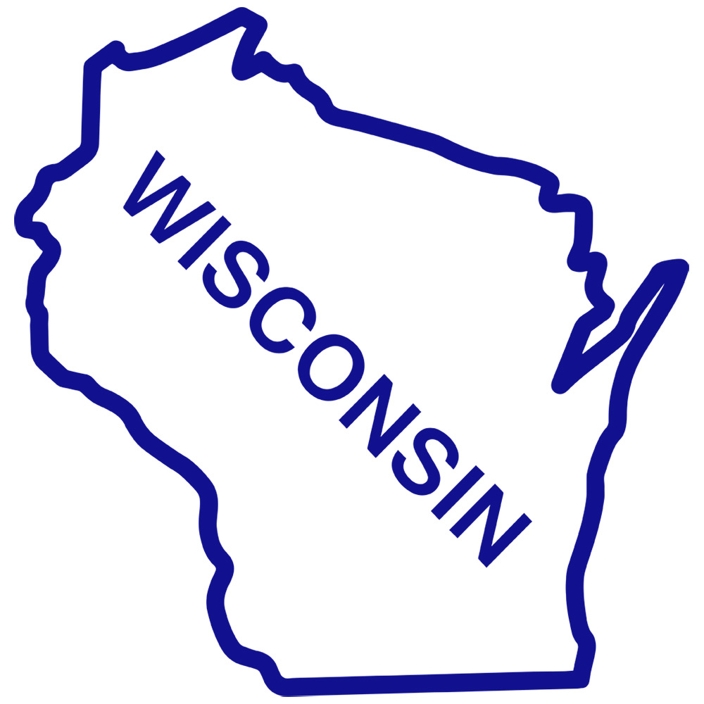 1000x1000 Wisconsin State Outline Clip Clipart Panda