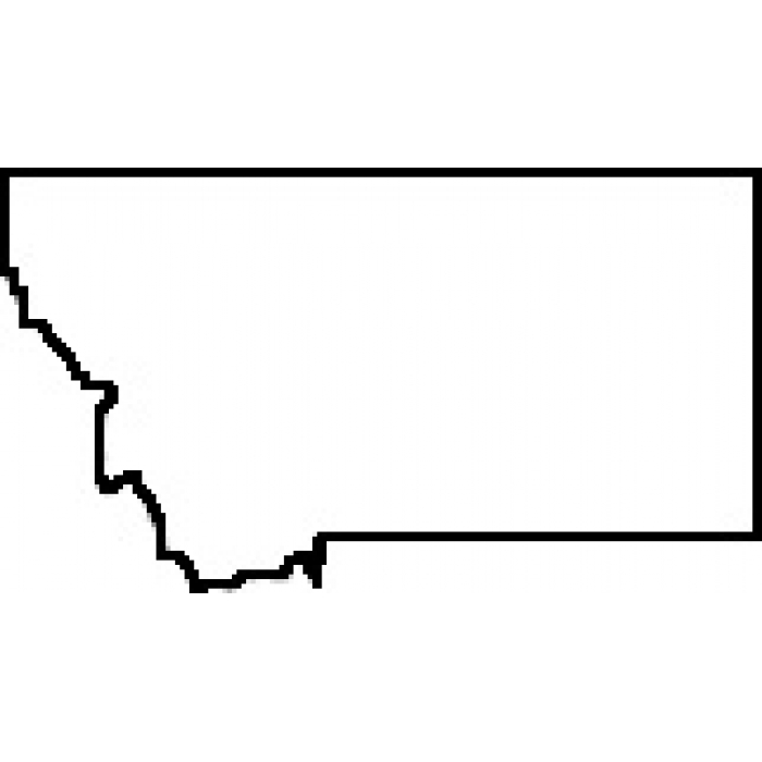 700x700 Clipart States Outline Montana