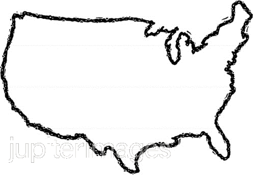 497x343 Clipart United States Outline