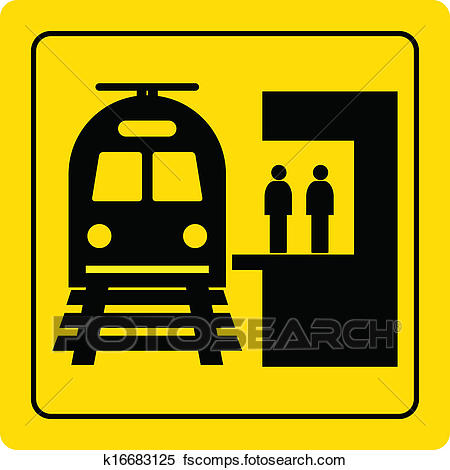 450x470 Clipart Of Railway Station K16683125
