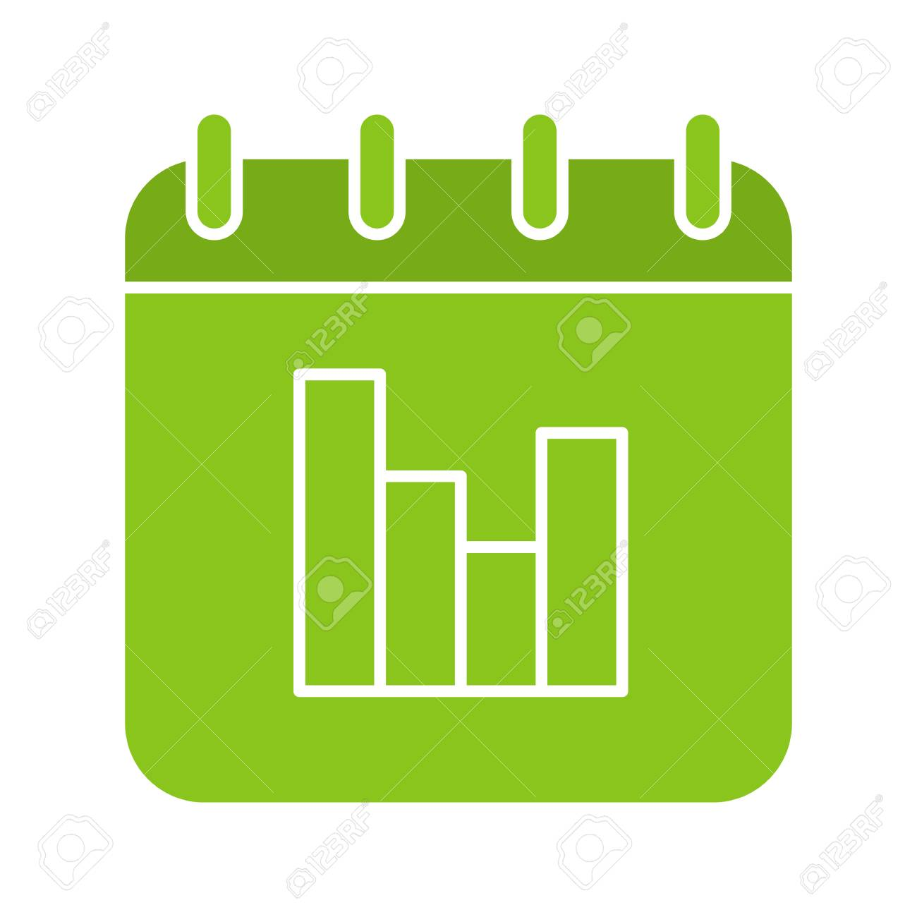 1300x1300 Calendar Statistics Glyph Color Icon. Calendar Page With Stats