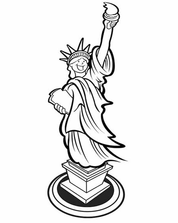 Statue Of Liberty Drawing Free download best Statue Of Liberty