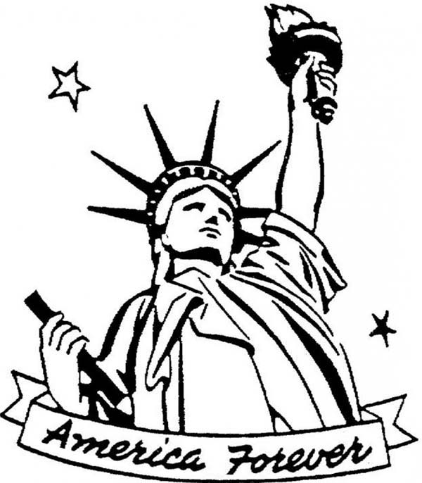 Statue of liberty drawing free download best statue of for Statue of liberty drawing template
