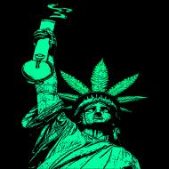 190x190 Statue Of Liberty Bong T Shirt T Shirt Wassupp420clothing
