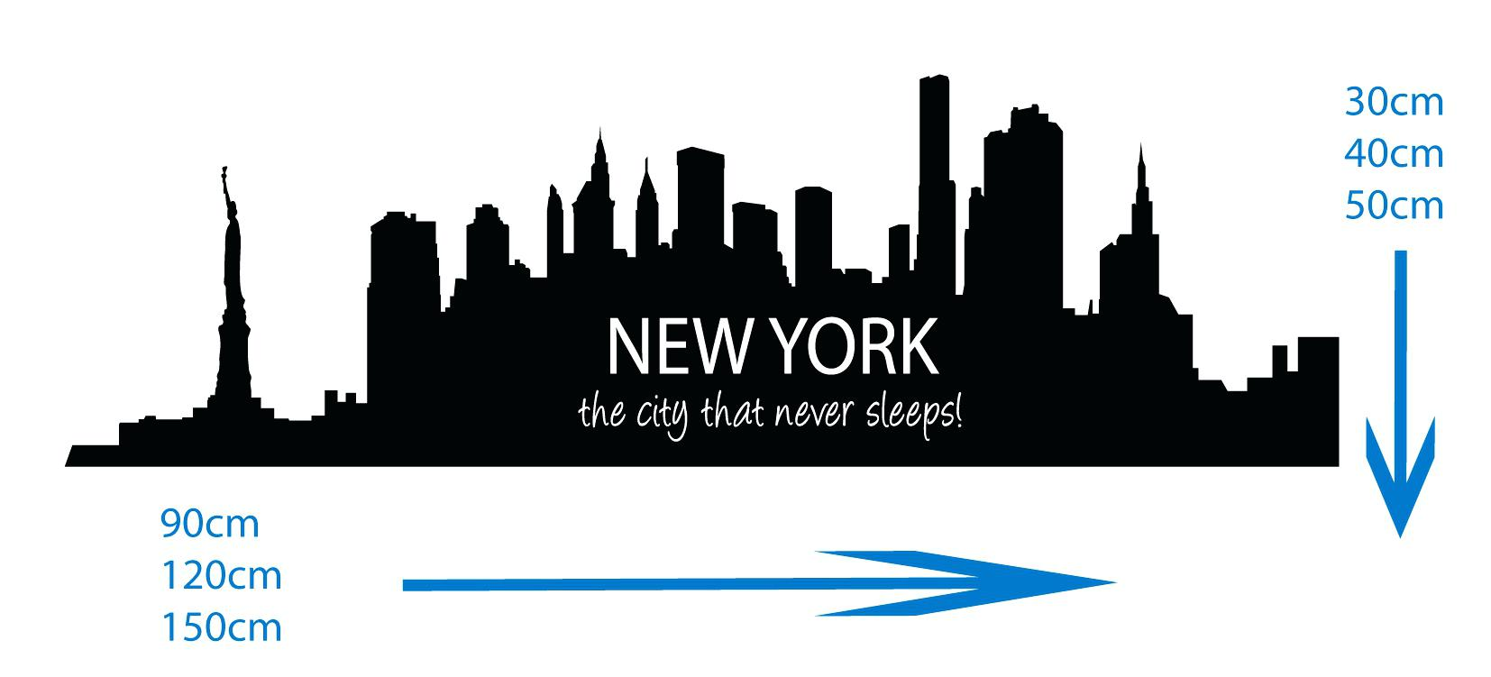 1654x751 New York Wall Decal Sticker New City Skyline The City Clip Art