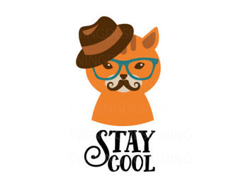 340x270 Cool Cat Svg Etsy