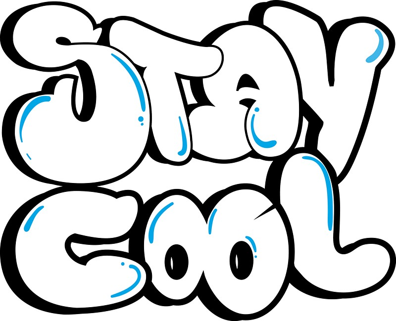 800x649 Stay Cool Bubble Letters Stickers By Baezartworks Redbubble