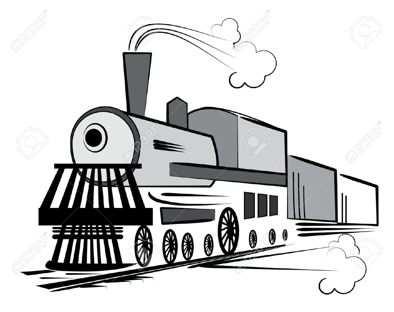 1300x1031 Locomotive Clipart Old Train