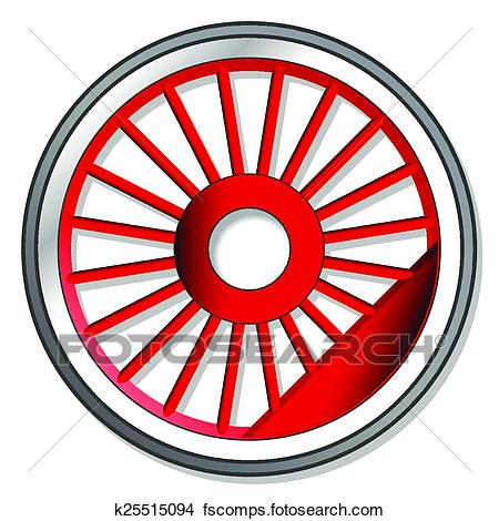 450x470 Clipart Of Wheel Of Steam Locomotive K25515094