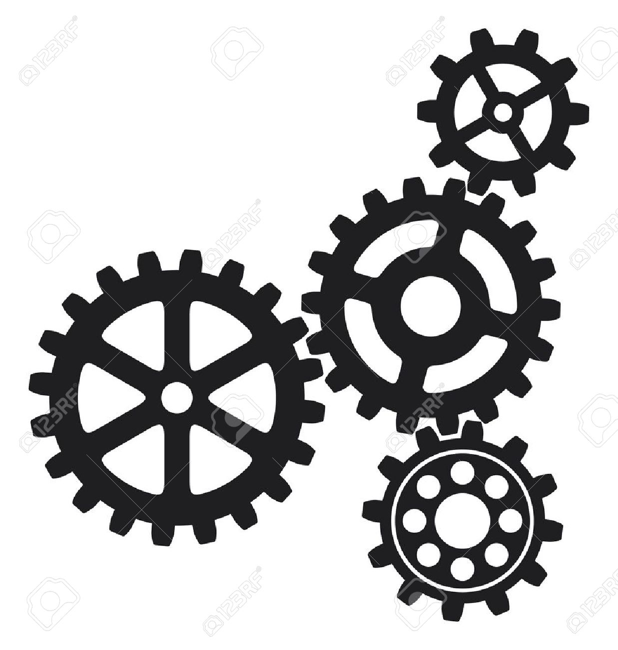 1237x1300 Clockwork Clipart Black Gear