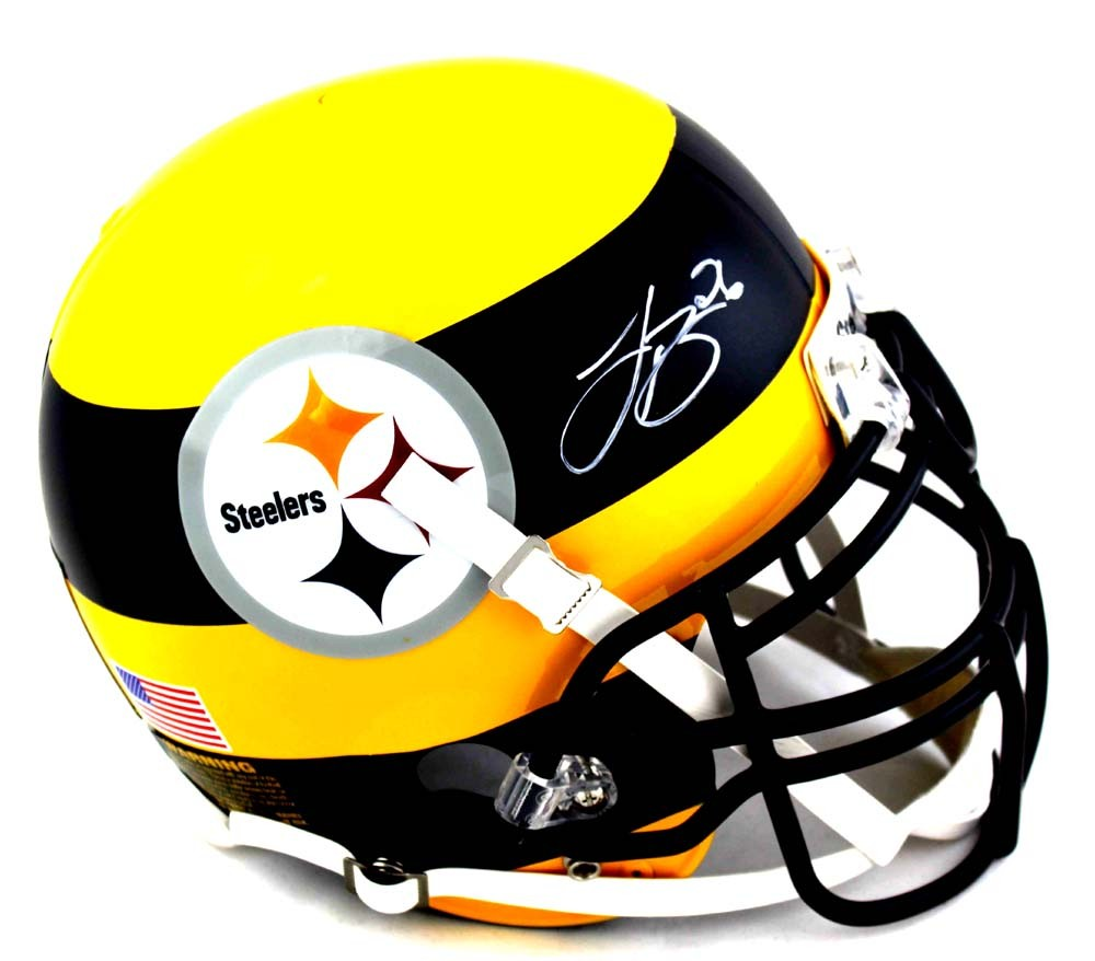 1000x878 Leveon Bell Signed Pittsburgh Steelers Authentic Bumblebee Concept