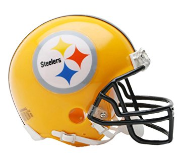 355x320 Riddell Pittsburgh Steelers 75th Anniversary Replica