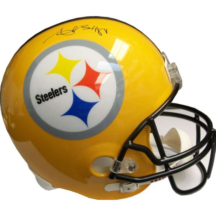750x750 Antonio Brown Autographed Steelers Gold Full Size Helmet