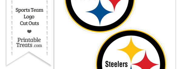 610x229 Medium Pittsburgh Steelers Logo Cut Outs — Printable