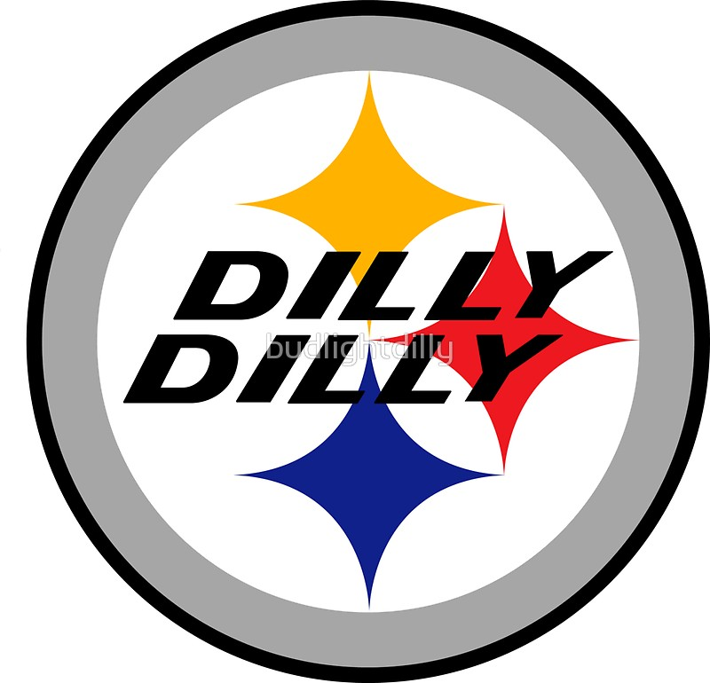 800x770 origin of dilly bud light shirt dilly steelers Stickers by