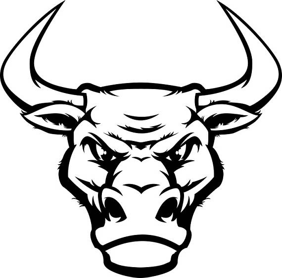 570x562 Bull 4 Head Mascot Steer Horns Bull Riding Western Logo Svg