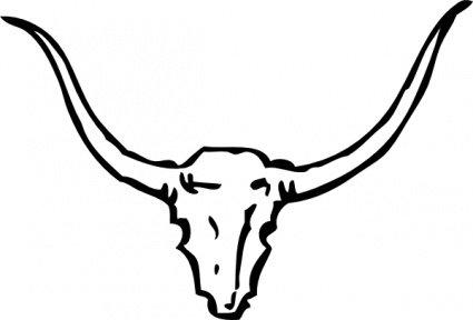 425x288 Bull Head Clip Art, Vector Bull Head