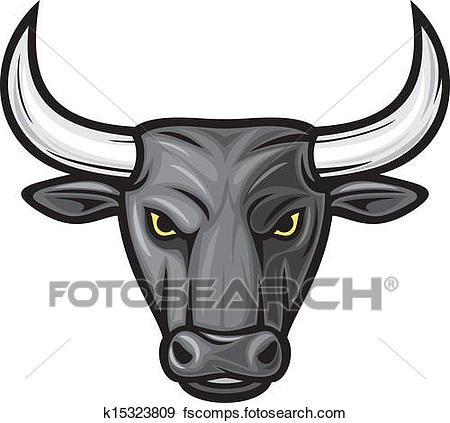 450x423 Clip Art Of Black Bull Head (Black Bull) K15323809