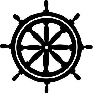 300x300 Ship Wheel Hd Ship Steering Wheel Vector Clipart Illustration