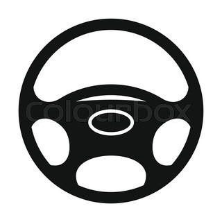 320x320 Vector Illustration Of A Steering Wheel. Simple Gradients Only