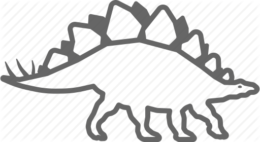 512x280 Dino, Dinosaur, Jurassic, Outline, Stegosaurus Icon Icon Search