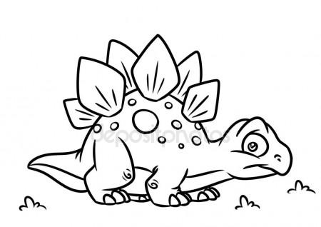 450x318 Dinosaur Stegosaurus Coloring Page Cartoon Illustrations Stock