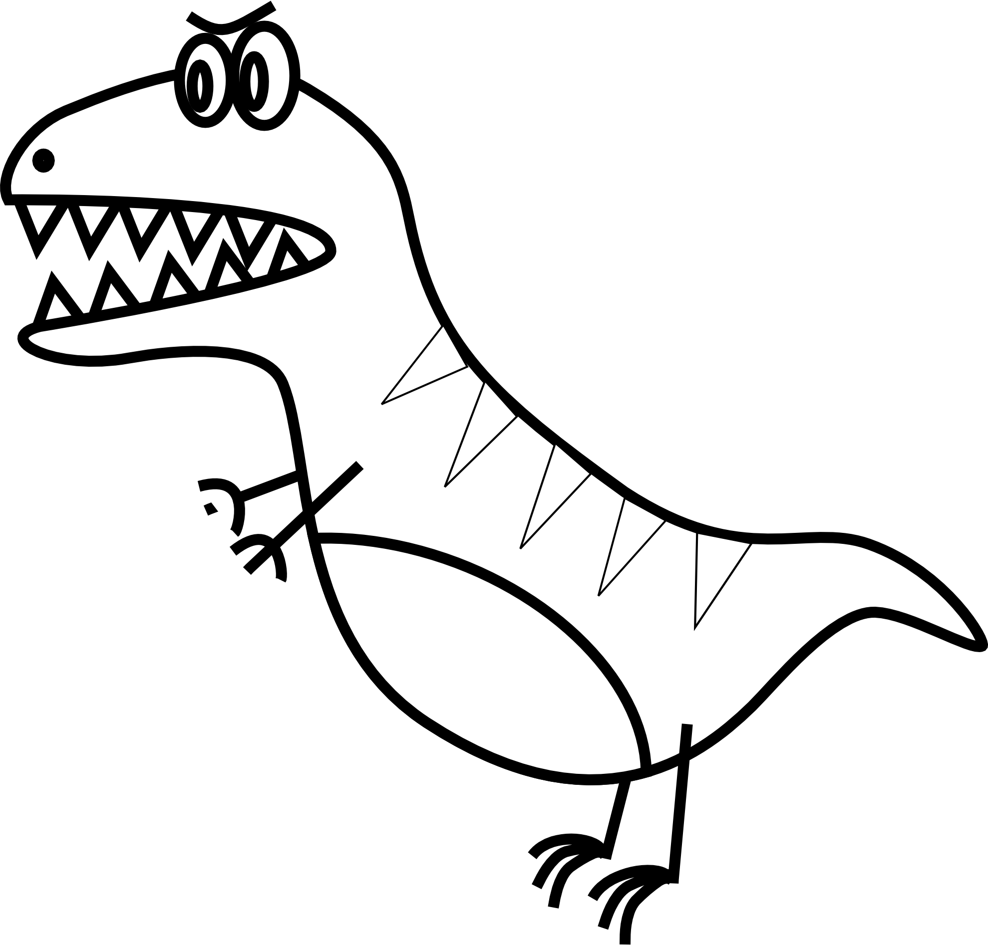 1979x1904 Drawn Dinosaur Simple