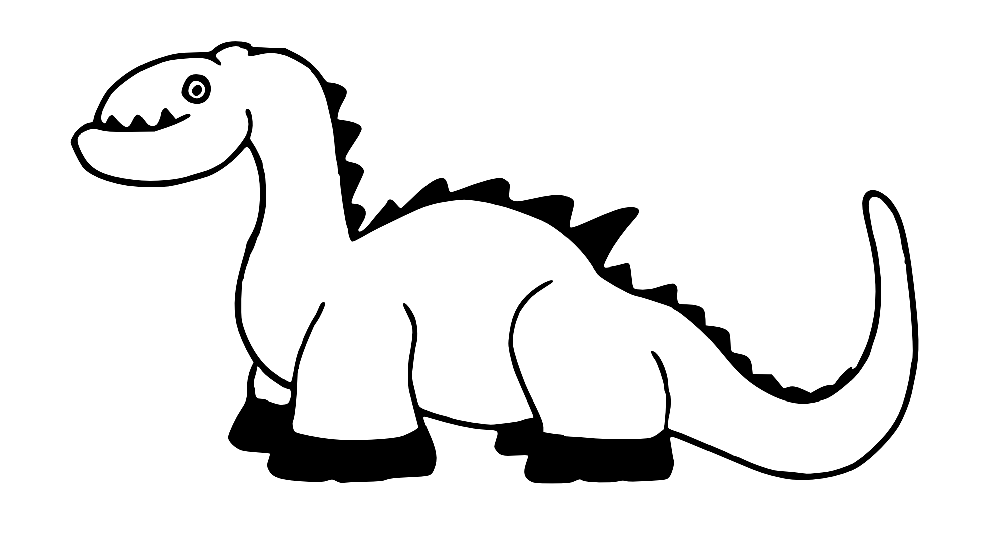 1979x1064 Stegosaurus Clipart Black And White