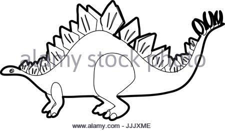 450x262 Animal Outline For Stegosaurus Illustration Stock Vector Art