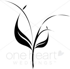 300x296 Triple Stem Clipart Wedding Leaf