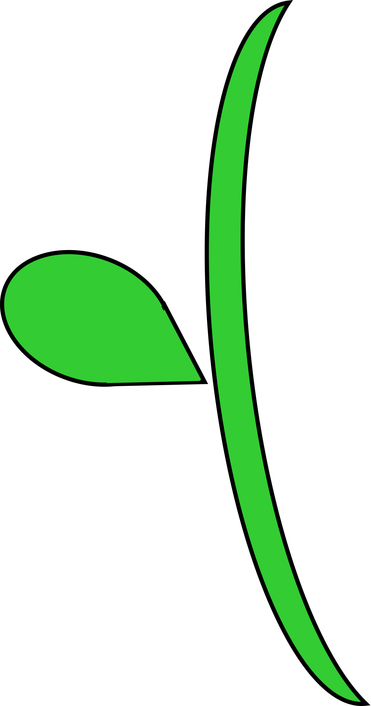 1264x2400 Stem Clipart Green Stem