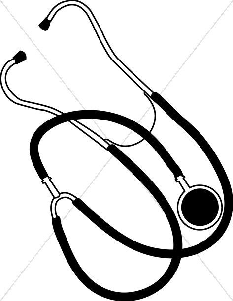 473x612 Simple Stethoscope Health Clipart