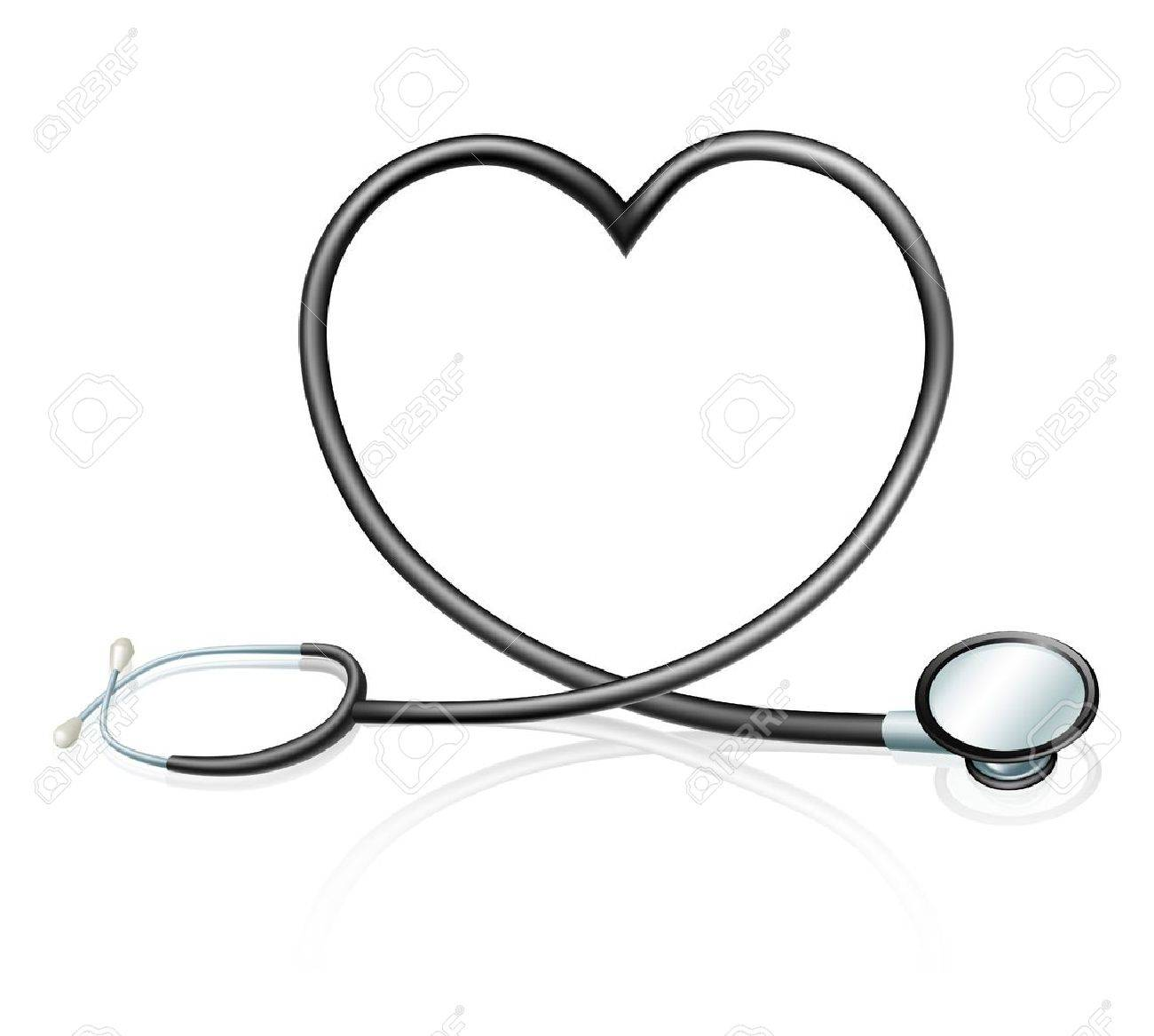 1300x1167 Heart Health Concept, A Stethoscope Forming A Heart Shape Royalty