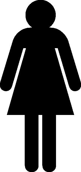 282x600 Black Stick Figure Clipart