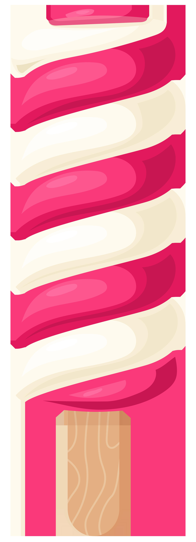 2170x6000 White Pink Ice Cream Stick Png Clip Art