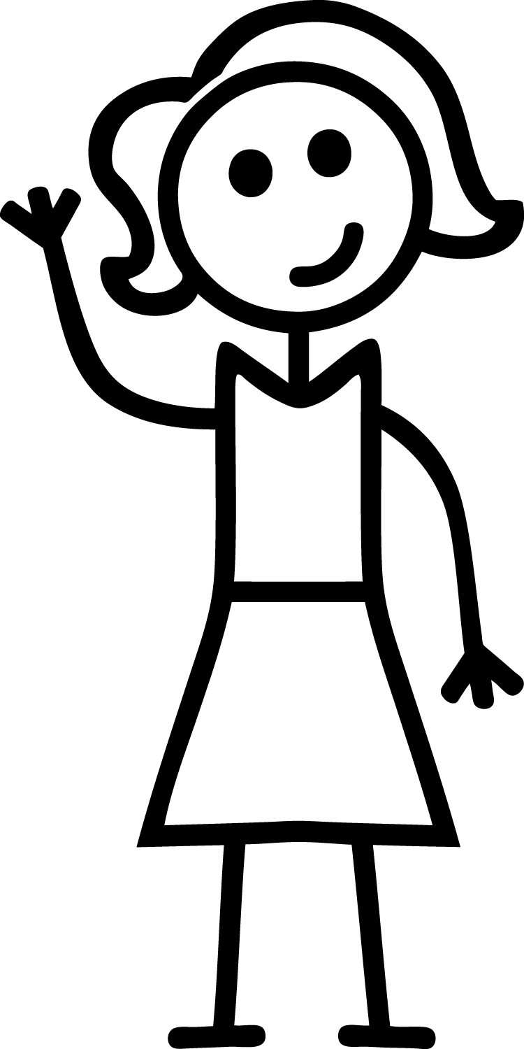 750x1500 Girl Stick Figure Clip Art