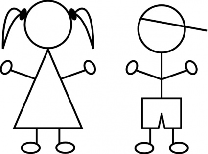 425x314 Girl Stick Figure Clip Art