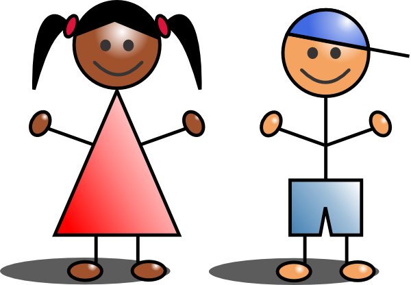 600x416 Kids Stick Figures Clip Art