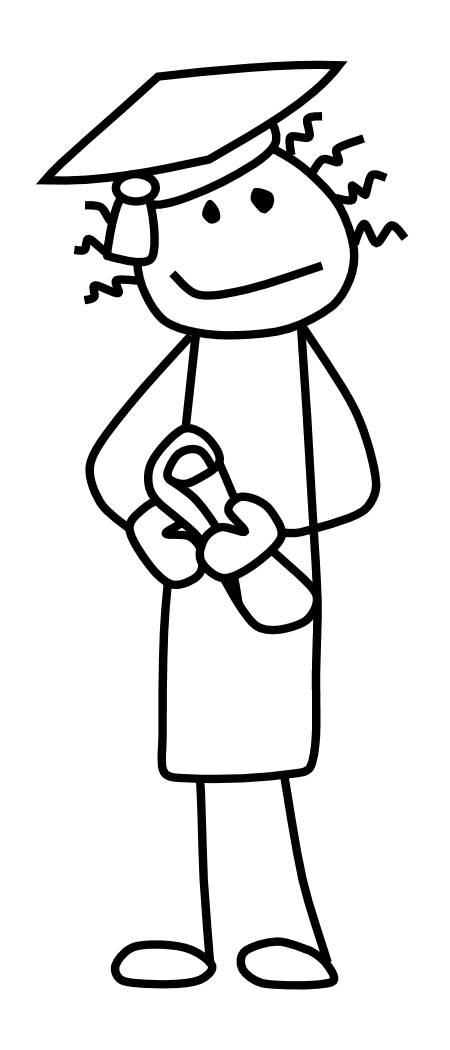 450x1050 Stick Figure Teacher Clipart Kid 2