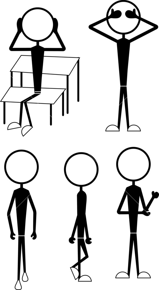 549x1000 Stick Figure Characters Actions Royalty Free Stock Image