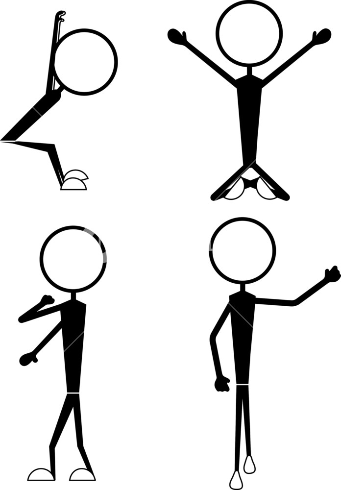 696x1000 Funny Male And Female Stick Figures Royalty Free Stock Image
