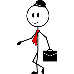 300x300 Businessman Cartoon Clipart Image