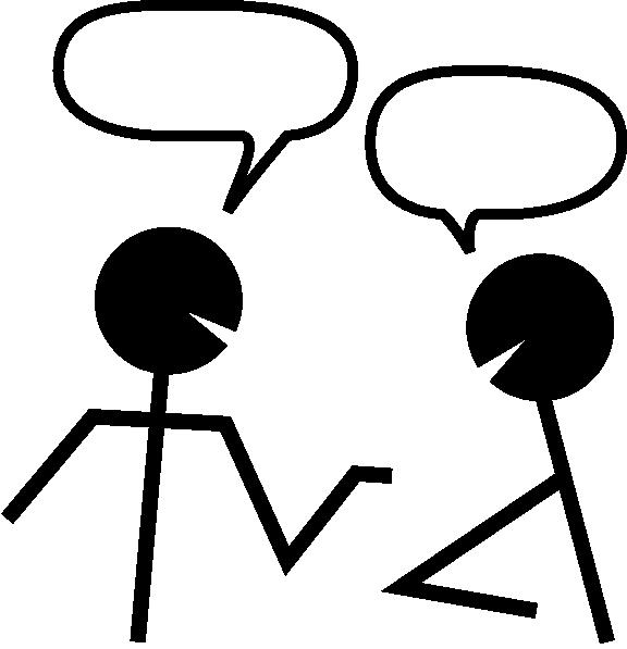 576x597 Talking Stick Figure Clipart