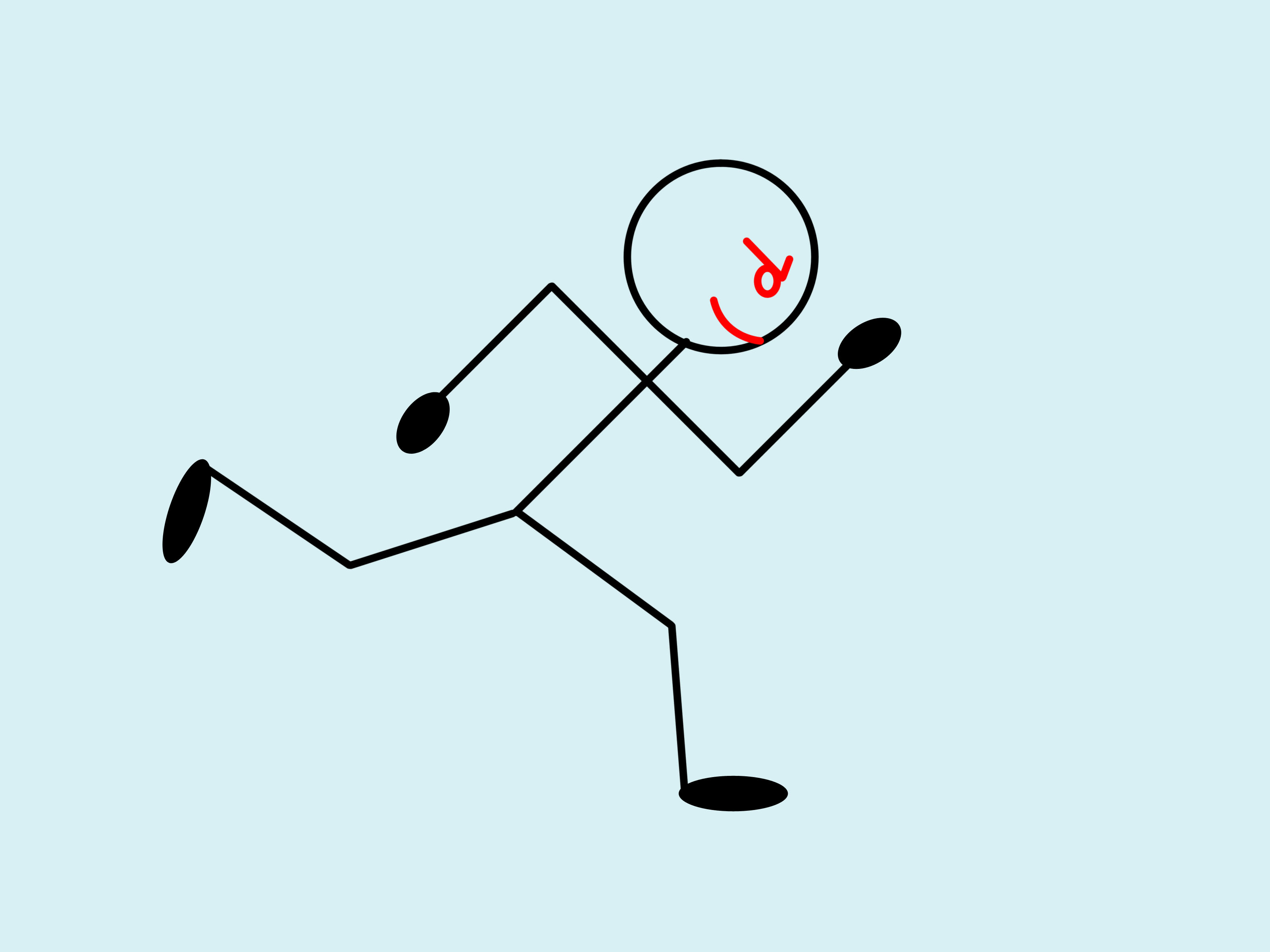 3200x2400 Stick Figure Running