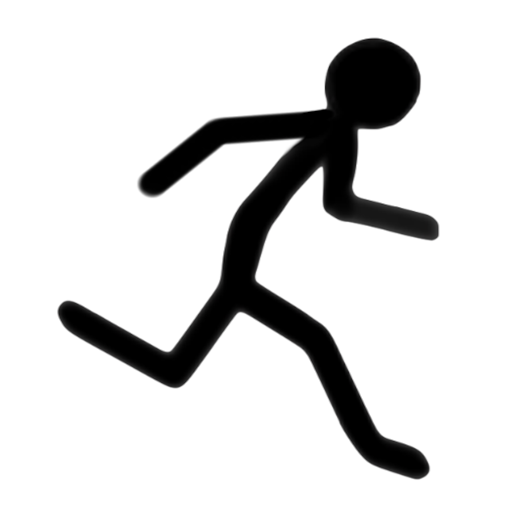 1024x1024 Stick Figure Runner Clipart