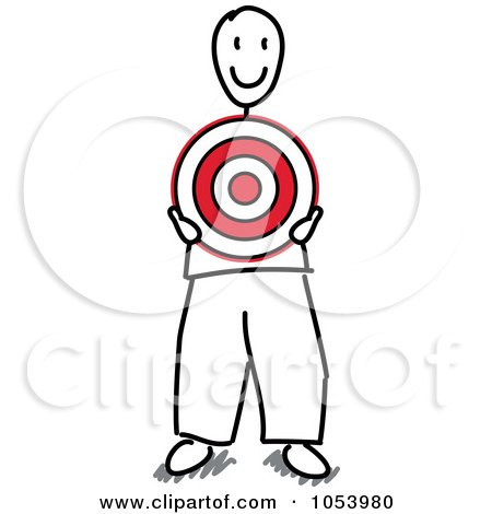 450x470 Royalty Free Vector Cliprt Illustration Of Stick Man Holding