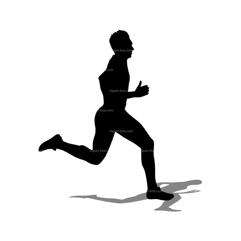 800x800 Man Running Clipart Black And White