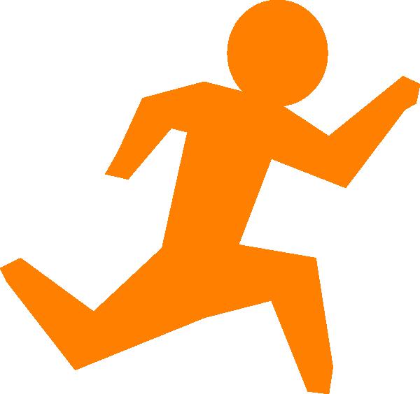 600x564 Person Running Running Man Orange Clip Art