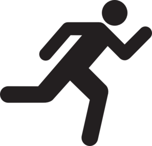 297x285 Running Icon On Transparent Background Clip Art