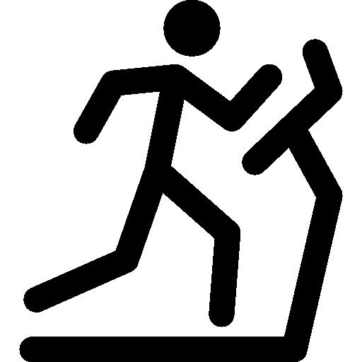 512x512 Stick Man Running On A Treadmill